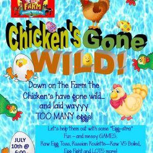 Calendar of Events - Down on the Farm - Chicken's Gone Wild - Egg Games Night