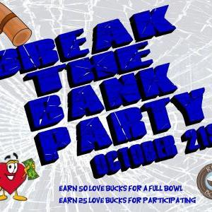 Calendar of Events - Break the Bank Party - Children's Dept - Mission Event
