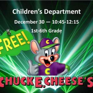 Calendar of Events - Chuck E Cheese Game Day - 1st - 6th Grade