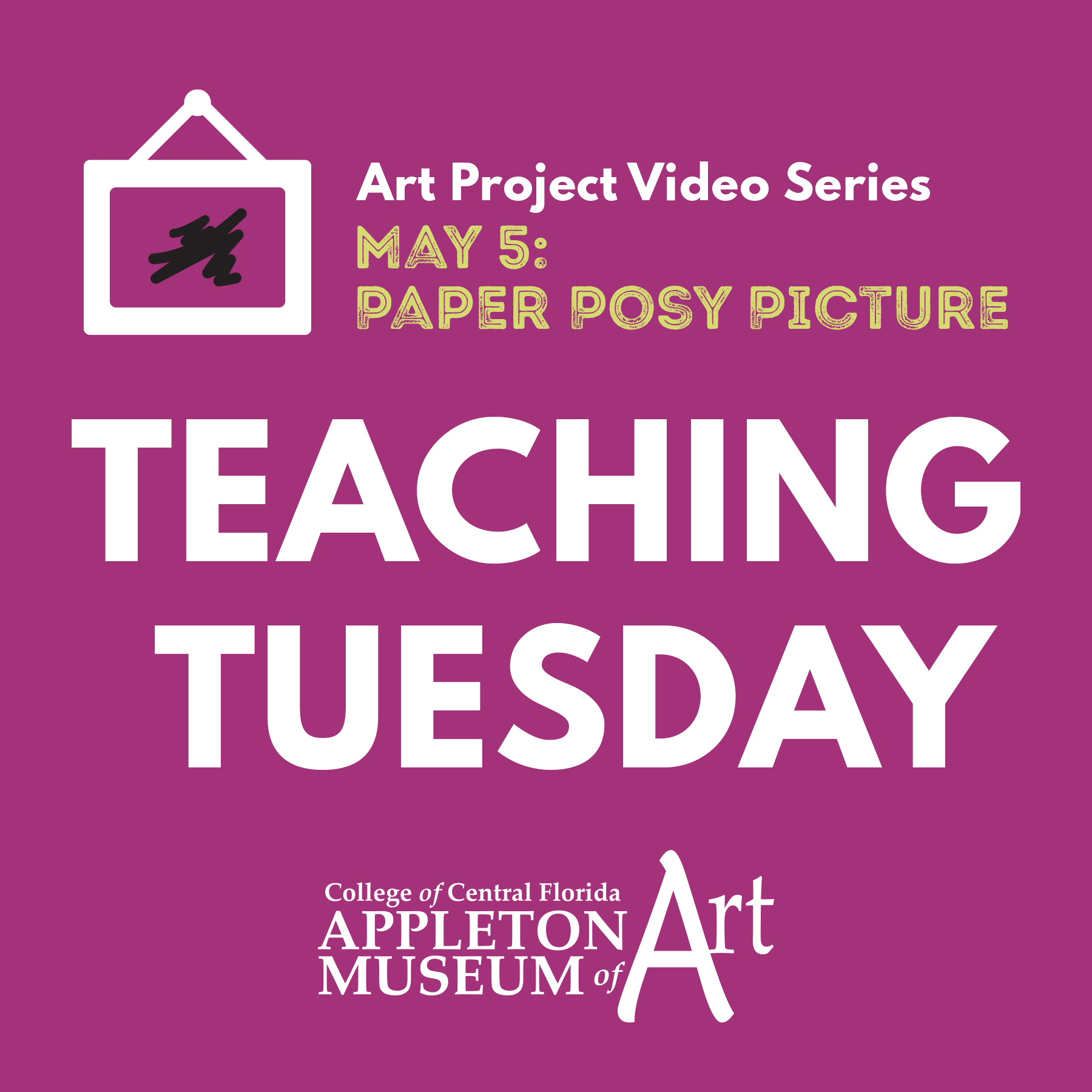 Teaching Tuesday: Paper Posy Picture