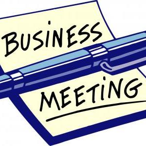 Calendar of Events - Short Business Meeting in Fellowship Hall