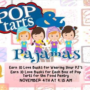 Calendar of Events - Pop Tarts and Pajama's Day - Children's Dept - Time Change