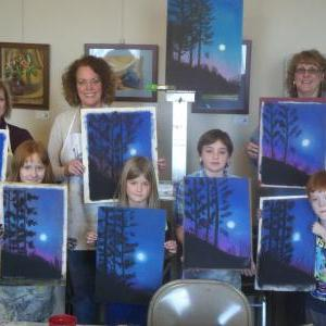 Sip & Paint Arty Parties - Sip and Paint for Laundromat Library League (NY Chapter)