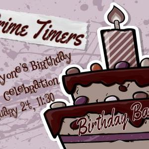 Calendar of Events - Prime Timers - Birthday Bash (Click on event for details)