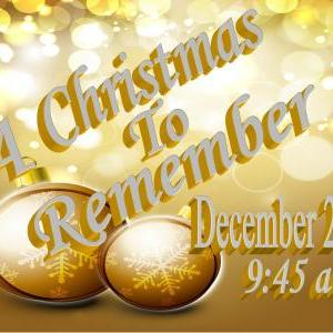 Calendar of Events - A Christmas to Remember - Missions