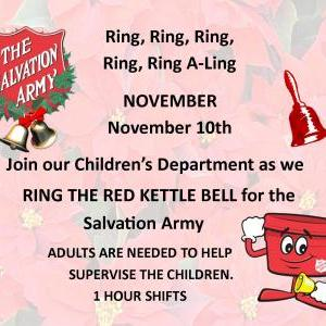 Calendar of Events - Red Kettle Bell Ringing - Children's Dept