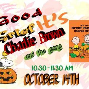 Calendar of Events - It's The Great Pumpkin Charlie Brown  - Black and Orange Day - Children's Department