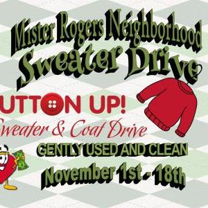 Calendar of Events - Mr. Rogers Neighborhood Sweater Drive Begins - Coats, Sweaters, Hoodies - Mission