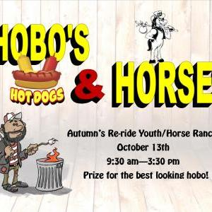 Calendar of Events - Hobo's, Hot Dogs and Horses - Autumn's Re-ride - Children's Department